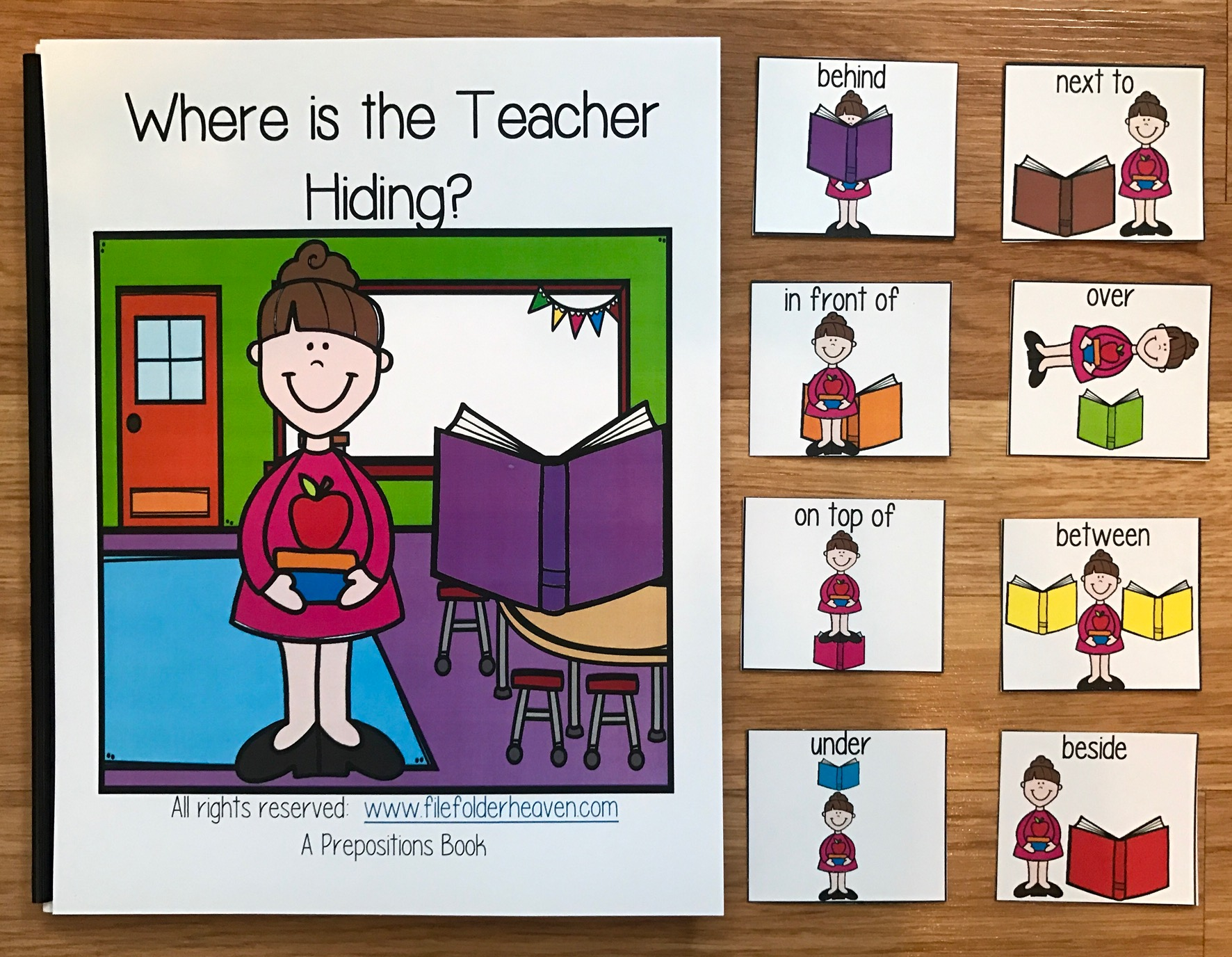 """Where is the Teacher Hiding?"" Back to School Adapted Book"