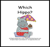 Which Hippo is Which Riddle Book