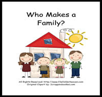 Who Makes a Family Adapted Book Unit