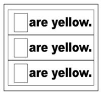 """Are Yellow"" Flip Strips"