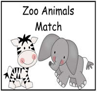 picture about Animal Matching Game Printable referred to as Zoo Pets Video game Document Folder Activity - $1.00 : Report Folder